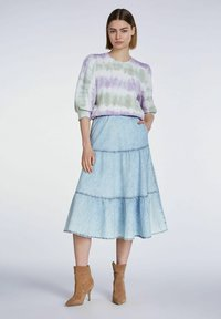 SET - MIT BATIK-LOOK - Sweatshirt - lilac green - 1