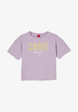 Print T-shirt - light purple