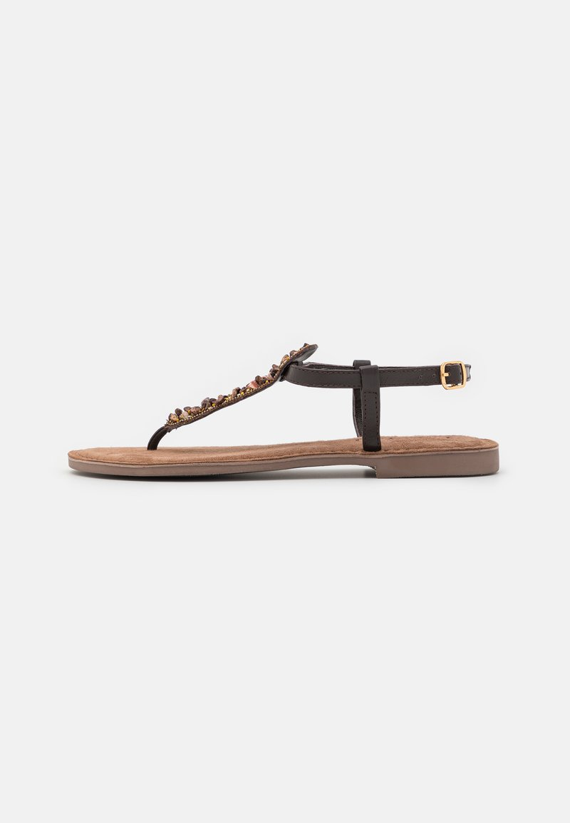 Lazamani - T-bar sandals - brown