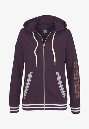 Zip-up hoodie - aubergine
