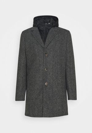 COAT WITH PADDED INSERT - Korte frakker - grey melange