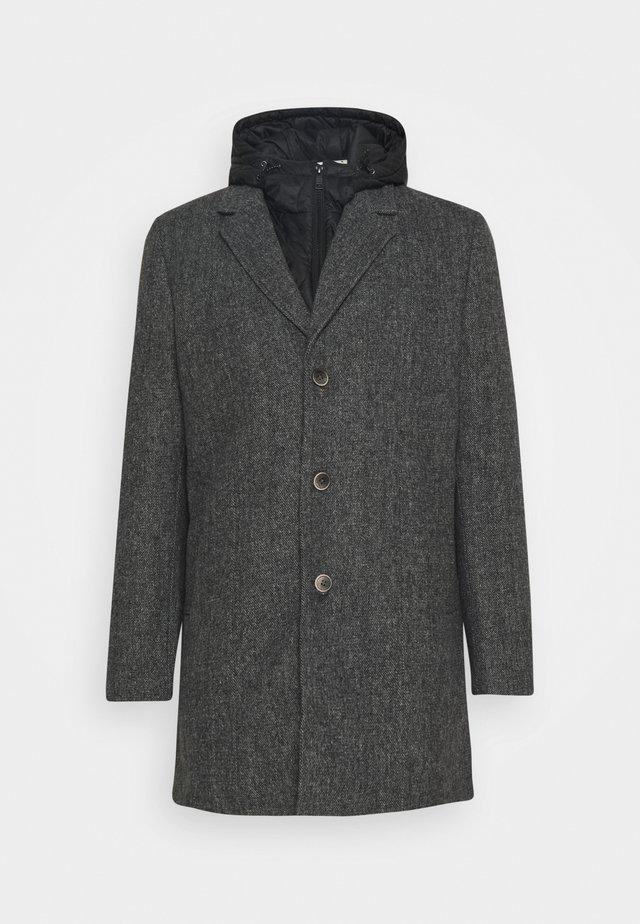 COAT WITH PADDED INSERT - Short coat - grey melange