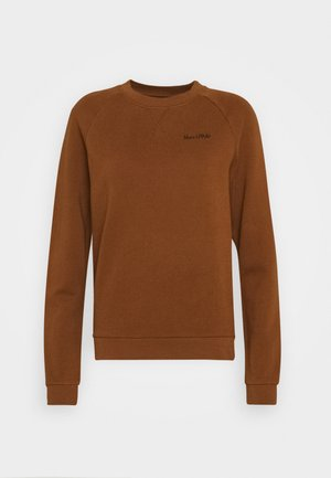 LONG SLEEVE ROUND NECK - Mikina - chestnut brown