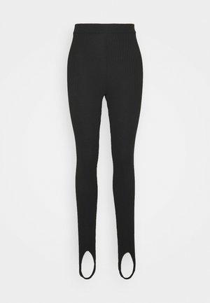 OPEN HEEL LEGGINGS - Leggings - black