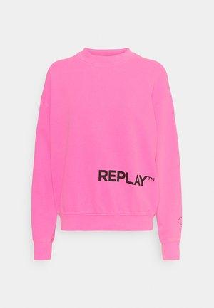 Sweatshirt - pink fluo