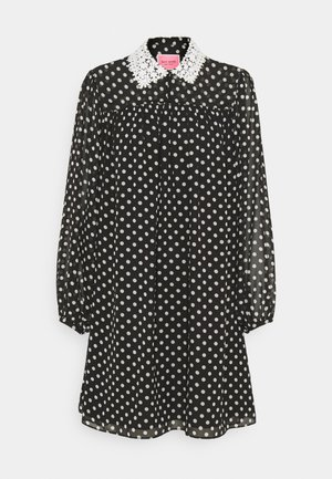 LADY DOT SWING DRESS - Day dress - black