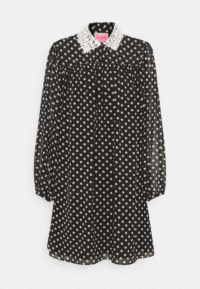 LADY DOT SWING DRESS - Denní šaty - black