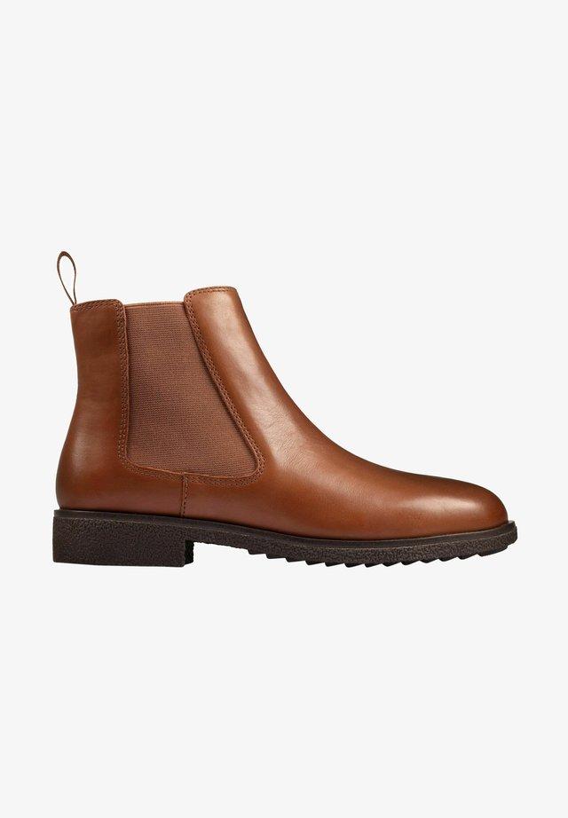 Korte laarzen - dark tan lea