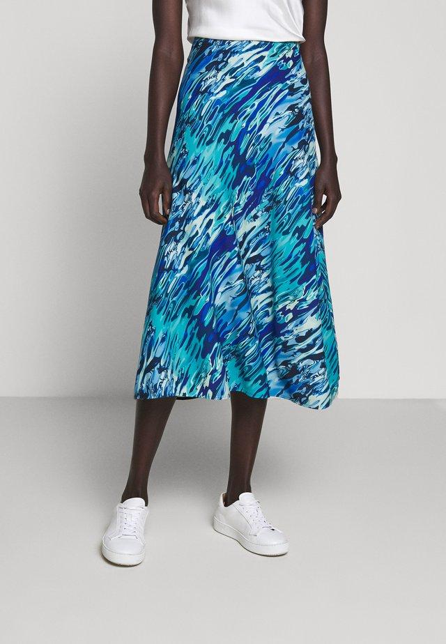 TEORIA - A-snit nederdel/ A-formede nederdele - blau