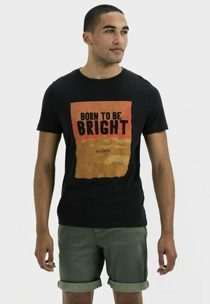 KURZARM  - Print T-shirt - asphalt