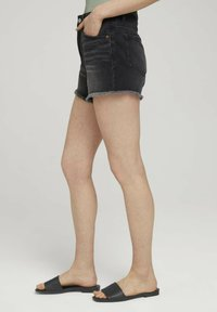 TOM TAILOR DENIM - Denim shorts - destroyed dark stone grey deni - 5