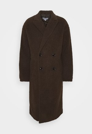 ARIES BORG LONGLINE OVERCOAT - Classic coat - brown