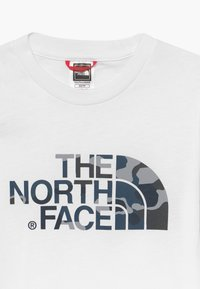 The North Face - YOUTH EASY UNISEX - Print T-shirt - white/mottled teal - 3