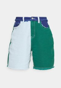 Missguided - FRAYED - Jeansshorts - green - 3