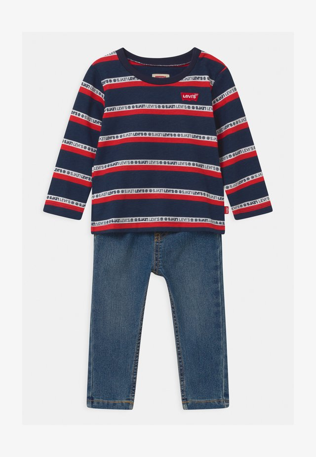 SET  - Maglietta a manica lunga - dark blue/red