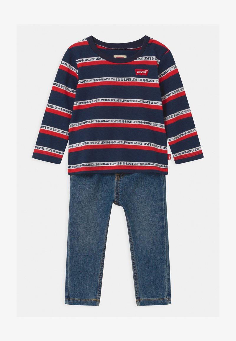Levi's® - SET  - Slim fit jeans - dark blue/red