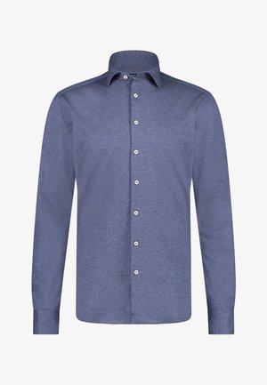 Overhemd - cobalt plain
