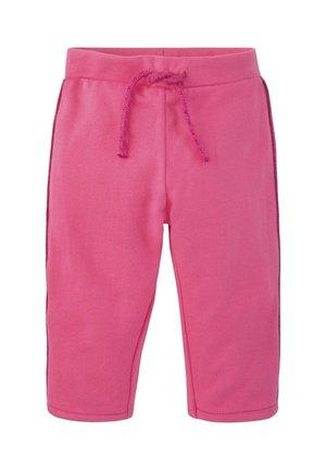 MIT GLITZER-STREIFEN - Tracksuit bottoms - fandango pink|pink