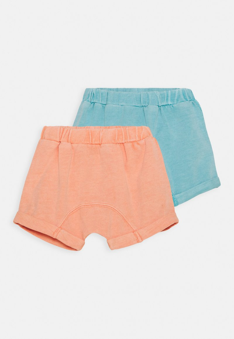 Cotton On - SHELBY UNISEX 2 PACK - Shorts - musk melon/blue ice