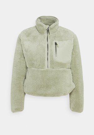 ONLDALINA ZIP TEDDY - Sweater - desert sage