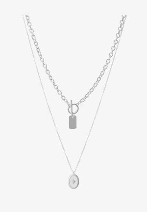 PCDUNIO COMBI NECKLACE KEY 2 PACK - Smykke - silver-coloured