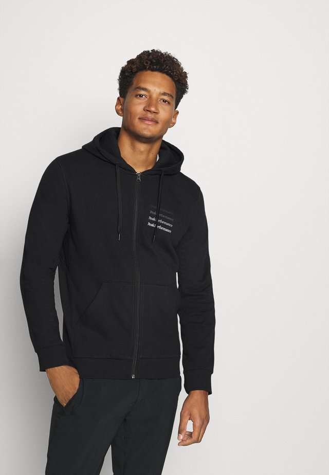 GROUND ZIP HOOD - Sweatjacke - black