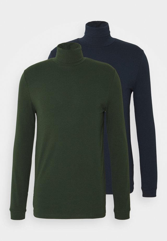 ROLL NECK 2 PACK - Maglietta a manica lunga - navy/green