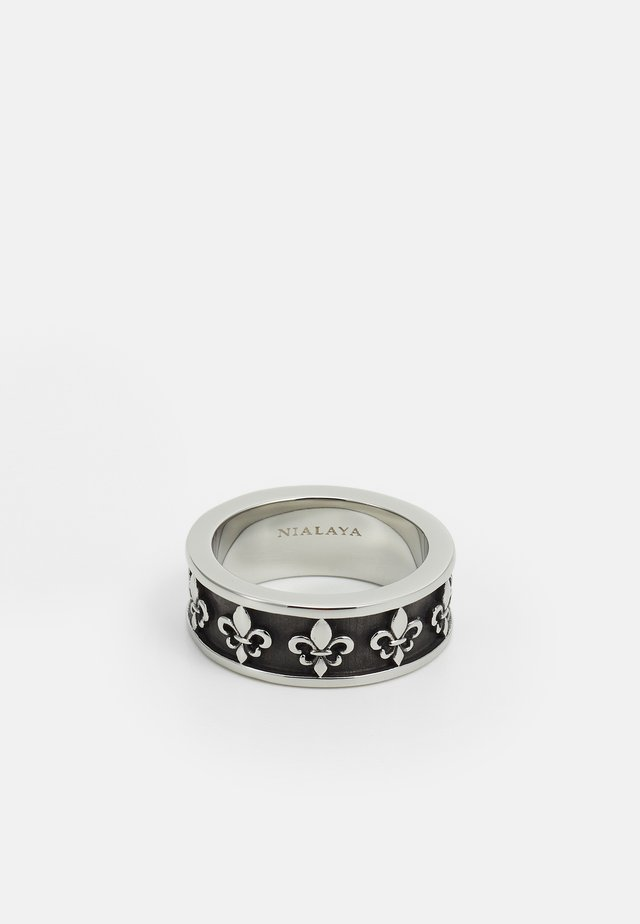 UNISEX - Ring - silver-coloured/black