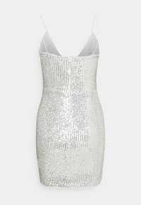 Missguided - SEQUIN MINI DRESS - Juhlamekko - silver - 1