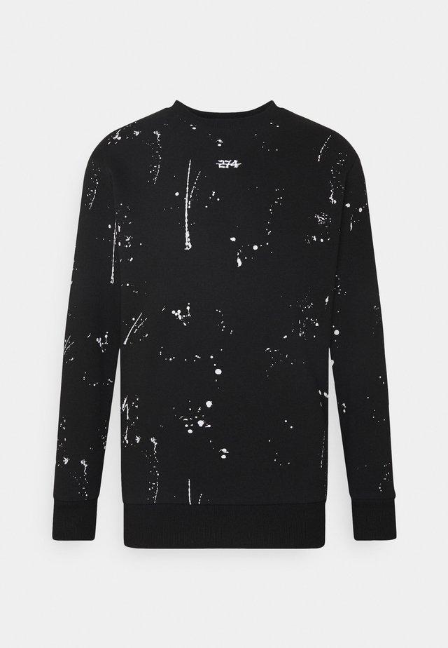 PAINT SPLAT CREW - Sweatshirts - black