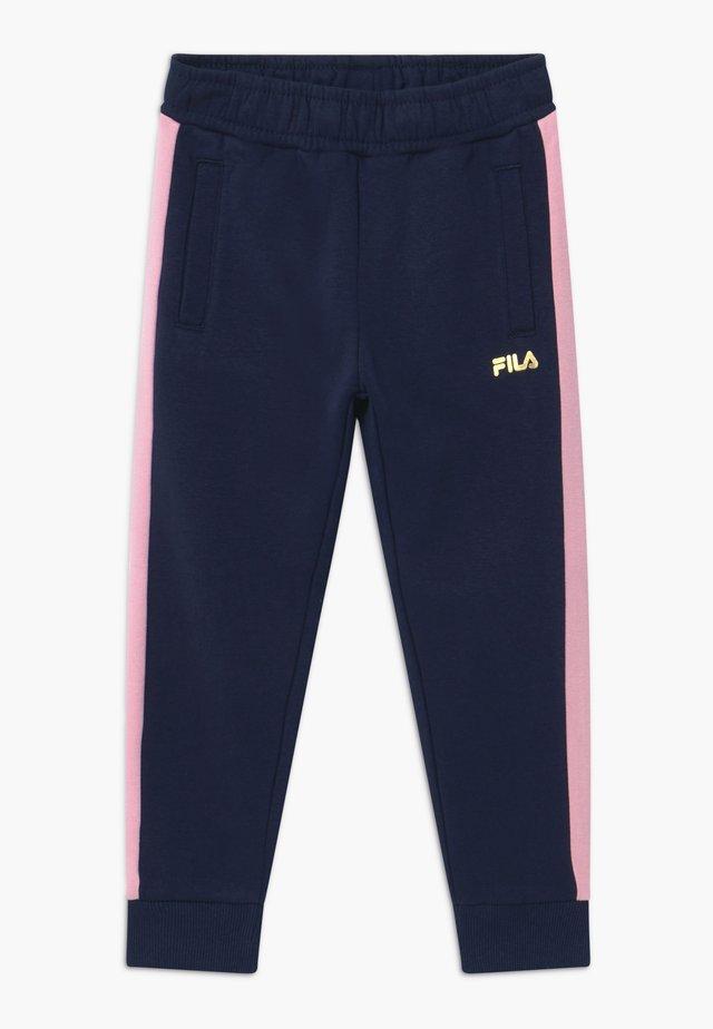 MARIA TRACK PANTS - Kalhoty - black iris/lilac sachet