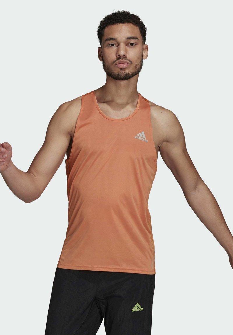 adidas Performance - OWN THE RUN PRIMEGREEN TANK RUNNING - Top - orange