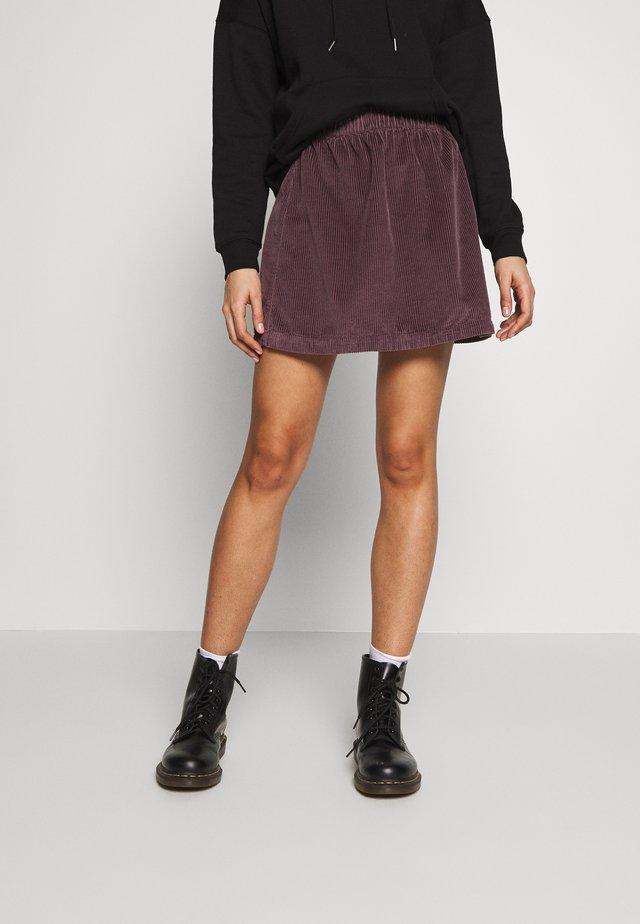 ELASTIC WAIST MINI SKIRT - Mini skirt - mauve