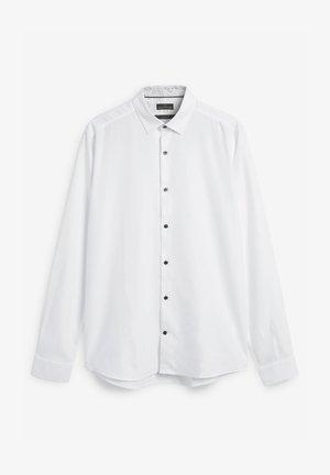 SIGNATURE HERRINGBONE - Camisa elegante - white