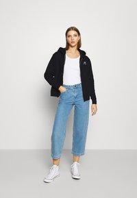 Converse - WOMENS FOUNDATION FULL ZIP HOODIE - Zip-up sweatshirt - black - 1