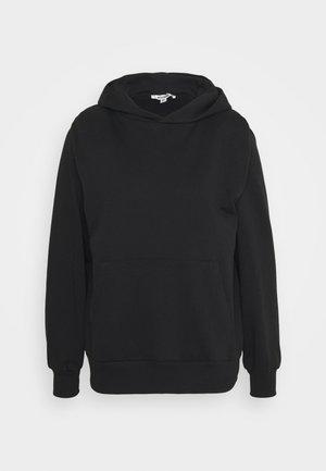 SHOULDER PAD HOODIE - Sweatshirts - black