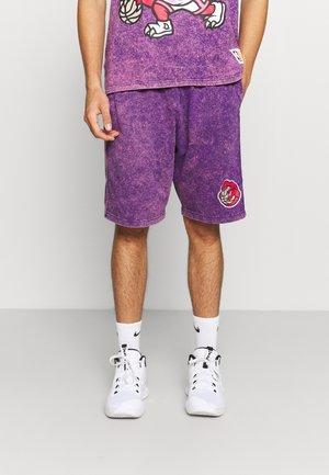 NBA TORONTO RAPTORS ACID WASH SHORTS - Club wear - purple