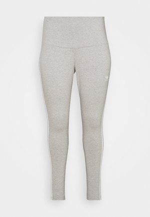 STRIPES TIGHT - Leggings - grey/white