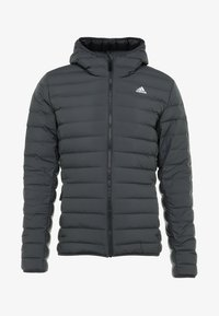 adidas Performance - VARILITE SOFT HOODED - Down jacket - carbon - 4