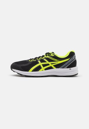 GEL-BRAID - Neutral running shoes - black/safety yellow