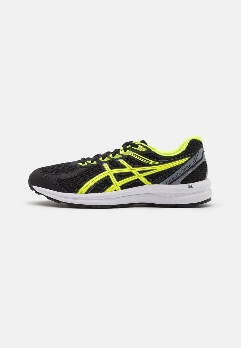 ASICS - GEL-BRAID - Scarpe running neutre - black/safety yellow