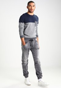 Pier One - Jumper - mottled grey/dark blue - 1
