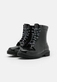 HUGO - LACE UP  - Gummistøvler - black - 2