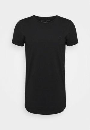 LONG BASIC WITH LOGO - T-shirt basic - black