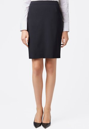 VILEA SLIM FIT - Pencil skirt - dark blue