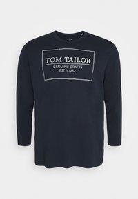 TOM TAILOR MEN PLUS - Long sleeved top - dark blue - 4