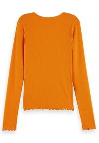 Scotch & Soda - WRAPOVER - Longsleeve - bright orange - 5