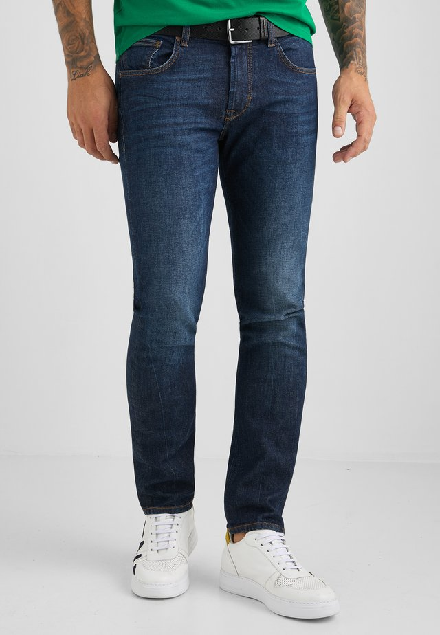 Slim fit jeans - dark blue used buffies