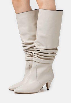 Vysoká obuv - offwhite