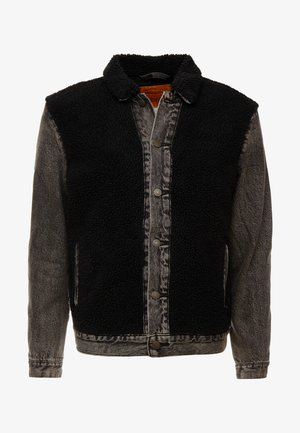 SHERPA PANEL TRUCKER - Spijkerjas - black sheep